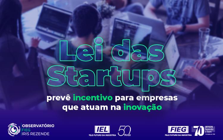 Noticia sobre lei de startup